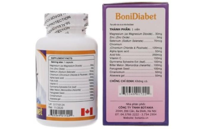 Bonidiabet giúp kiểm soát bệnh tiểu đường ở mức an toàn