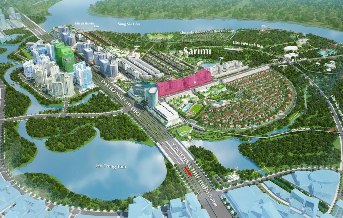 căn hộ Sala Gần Quận 1 giao thoa ồn ào náo nhiệt và sự yên bình của Sài Gòn