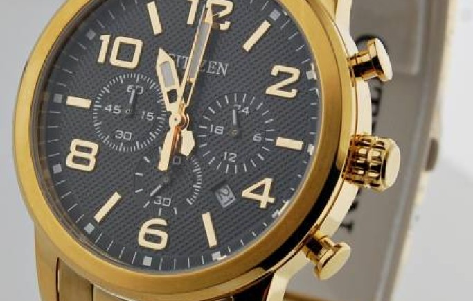 Citizen Quartz Chronograph AN8052-55E  sắc vàng sang chảnh