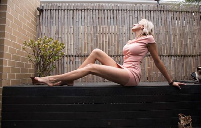 Cựu người mẫu sở hữu đôi chân dài 1,31 m