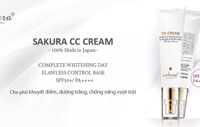 Điều chỉnh tông màu tự nhiên với kem trang điểm sakura này