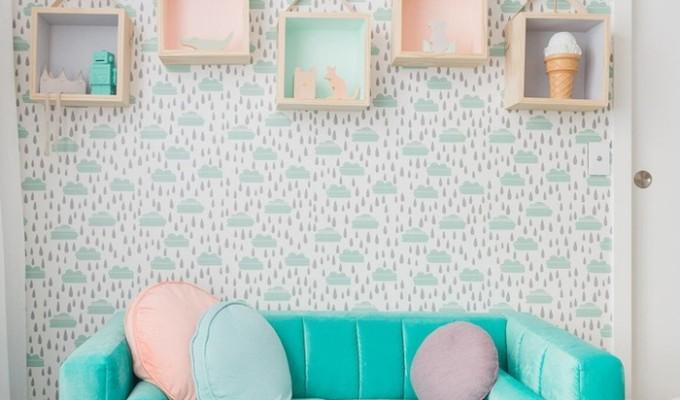 Dịu dàng với mẫu giấy dán tường hot nhất 2017 cho phòng bé