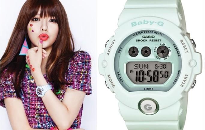 Đồng hồ Casio BG-6902-3DR màu xanh trẻ trung cho cô nàng