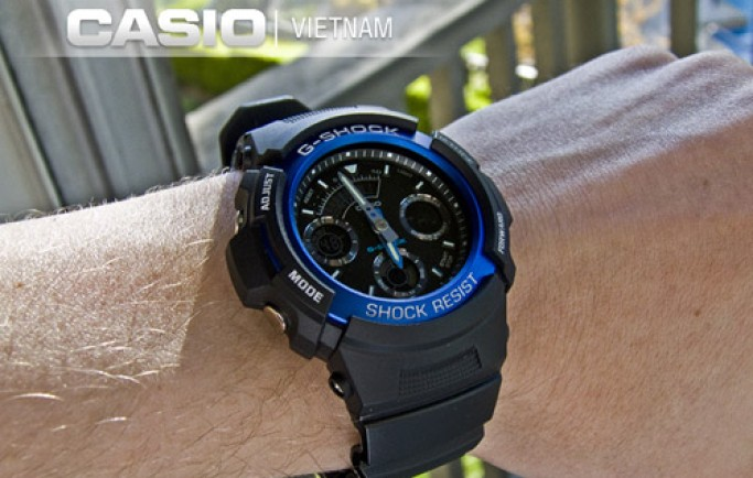 Đồng hồ Casio G-Shock AW-591-2ADR màu xanh bắt mắt phái mạnh