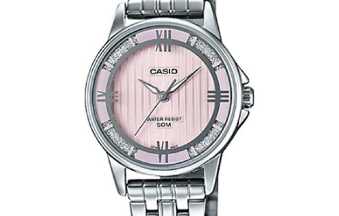 Đồng hồ Casio Nữ LTP-1391D-4A2 mặt hồng dễ thương