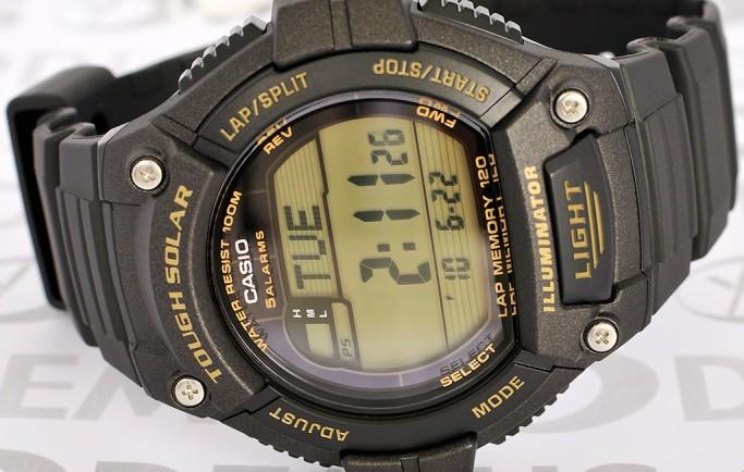 Đồng hồ Casio W-S220-9AV nổi bật với thiết kế mạnh mẽ