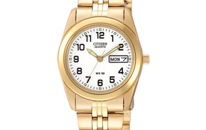 Đồng hồ Citizen Quartz EQ0512-52B sắc vàng nổi bật