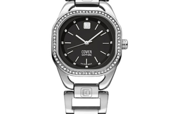 Đồng hồ Cover Co148.01 mặt vuông dây kim loại sắc nét