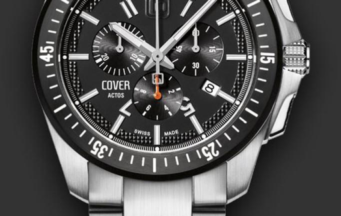 Đồng hồ Cover Co150.01 mặt đen dây kim loại khỏe khoắn năng động