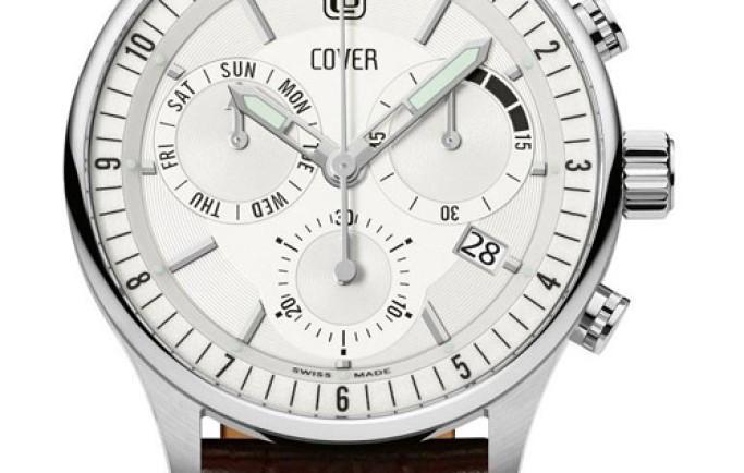 Đồng hồ Cover Co165.06 dây da nâu nổi bật cho người đeo