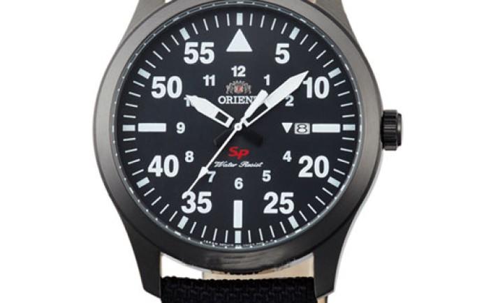 Đồng hồ dây vải thay đổi phong cách cùng Orient nam FUNG2003B0