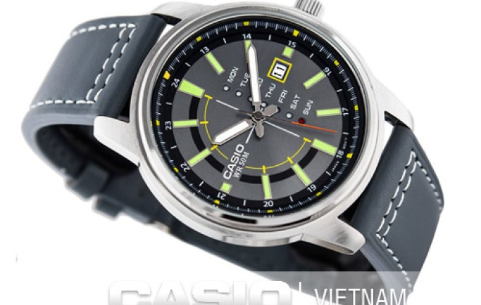 Đồng hồ nam Casio MTP-E128L-8AV kiểu dáng lạ mắt thu hút