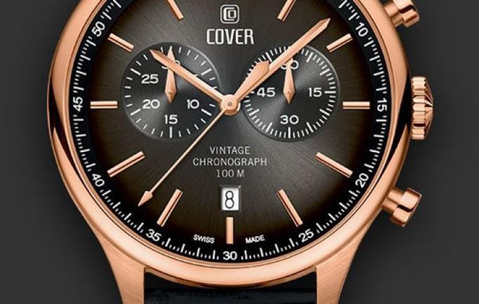 Đồng hồ nam Cover CO192.06  mặt nâu giúp anh chàng nổi bật