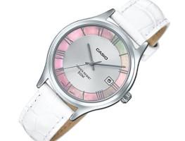 Đồng hồ nữ Casio LTP-E142L-7A1VDF mặt hồng dây trắng nổi bật