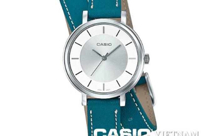 Đồng hồ Nữ Casio LTP-E143DBL-3ADR dây da chéo độc lạ