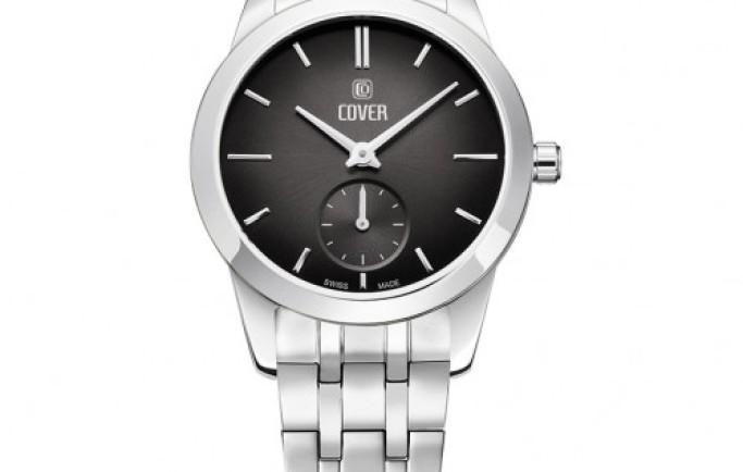 Đồng hồ Nữ Cover CO195.01 dây kim loại mặt đen