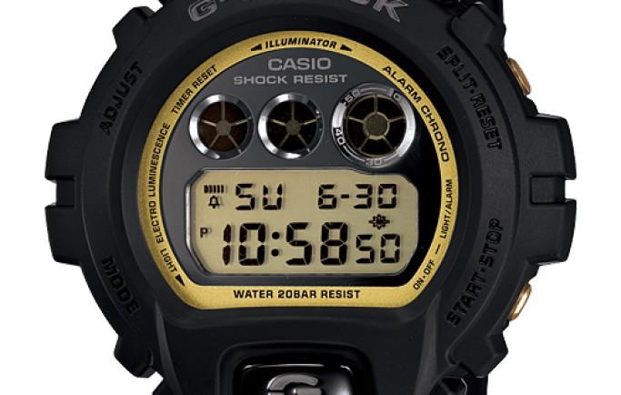G-Shock DW-6900MR-1 mặt điện tử chấm phá sắc vàng sáng bóng