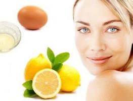 Mặt nạ chanh và lòng trắng trứng gà giúp trị mụn
