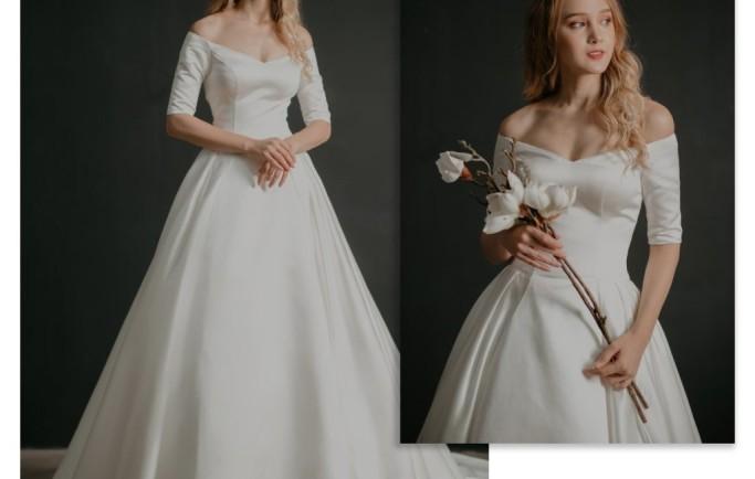 Những thiết kế áo cưới đơn giản đẹp chao đảo