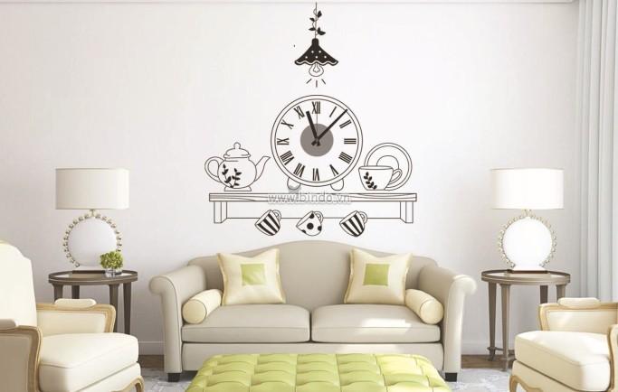 Những mẫu đồng hồ trang trí phòng khách đẹp lạ và độc đáo