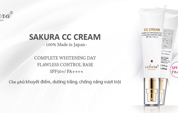 Vừa đẹp vừa chống nắng hiệu quả với kem trang điểm sakura cc cream