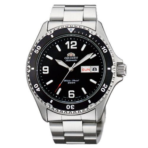 Đồng hồ nam Orient cơ FAA02001B9 mặt đen huyền bí