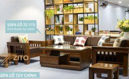 Mẫu sofa gỗ mang phong cách hiện đại không thể bỏ qua