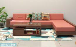 Sofa gỗ đơn giản có đem lại sự sang trọng cho phòng khách