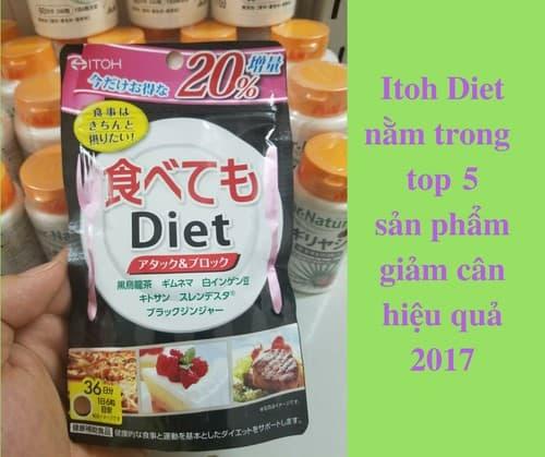 Viên uống giảm cân ITOH Nhật Bản phù hợp với phụ nữ hiện nay